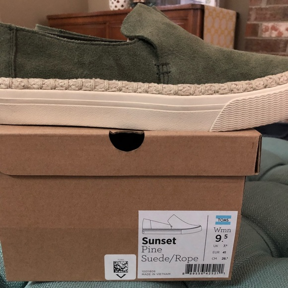 Toms Shoes | Toms Sunset Suede Slip On